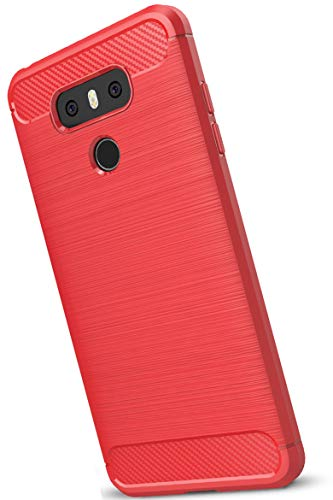 XINFENGDILG G6 Funda, TPU Slim Silicona Case Cover [Anti-arañazos] Funda para Smartphone LG G6 - Rojo