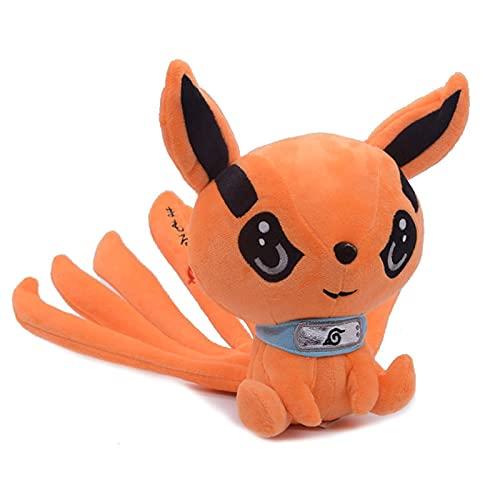 25cm Anime Kyuubi Kurama Nine Tales Fox Demon Juguetes de Peluche muñecos de Peluche Suave Regalo de cumpleaños