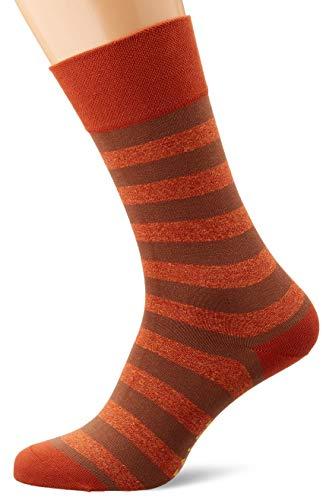 FALKE Herren Sensitive Mapped Line Socken, orange (Copper 8854), 39-42 (UK 5.5-8 Ι US 6.5-9)