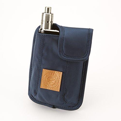 Vape-Tasche für Reisen - Sicher, Geordnet, Premium Vape-Etui - Passend für groß mechanischen Box Mods, Liquids, Batterie, Tank-Halter & Zubehör - Wick and Wire (El Cajon Blau)