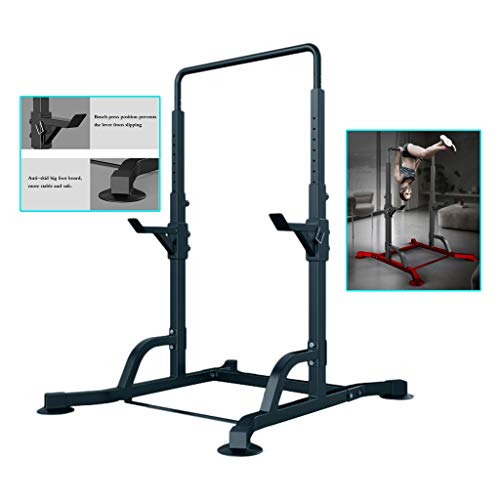 Horizontal bar Multifunctional Indoor Household Horizontal bar Pull-ups Bench Press Squat Rack Fitness Equipment (Color : Black, Size : 130 * 120 * 220cm)