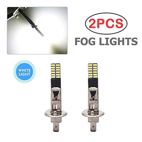 SUNWAN H1 - Bombillas LED para faros delanteros de coche (6500 K, luz antiniebla, salida de iluminación superbrillante (2 unidades)