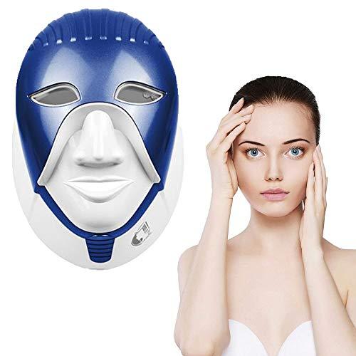 Intelligent Light Therapy Maschera Viso, 7 Colori LED Photon Terapia per la rimozione della Pelle del Fronte di Cura delle Rughe Acne Spot Anti Aging (Blu)
