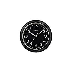 Casio Iq-59-1b Black and White Round Analog Wall Clock