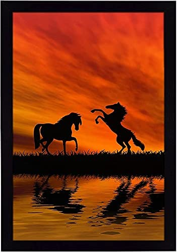 Anjani Ritwika's Abstract Wall Art of Silhouette free in Horses O Two Max 55% OFF