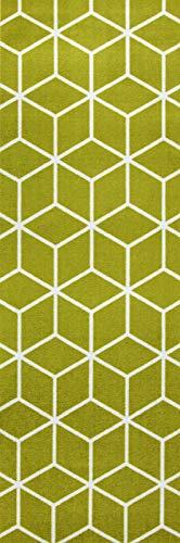 onloom Küchenläufer in graphischen & geometrischen Designs, robust, schadstoffgeprüft, Farbe:Grün, Größe:50 x 150 cm