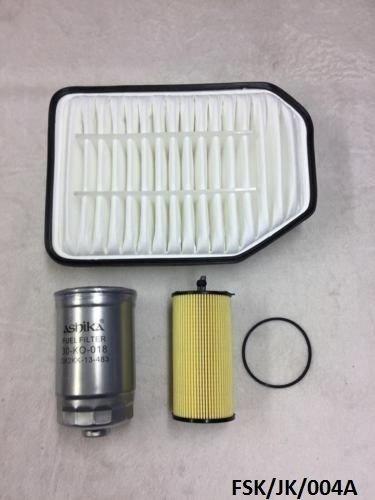 ASHIKA Air, Oil Filter & Kraftstofffilter Wrangler JK 2.8CRD 2007–2017