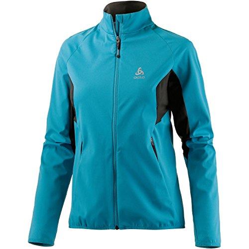 Odlo Damen Jacket Softshell STRYN Funktionsjacken Lg.arm Da, Algiers Blue-Graphite Grey, L