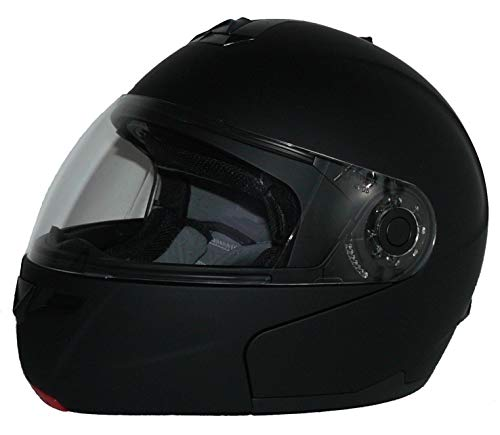 Klapphelm H910 matt-schwarz mit integrierter Sonnenblende - L