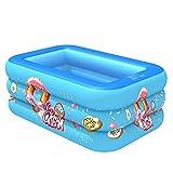 Piscina Hinchable Banera Piscinas Piscina Inflable para Bebés Espesar Acolchado De Piscina De Gran Tamaño para Adultos Y Niños Pequeños Bebés Niños Piscina Cuadrada Centro De Juegos B 210cm