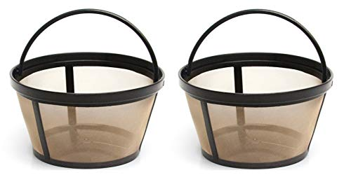 2 X Permanent Basket-Style Gold Tone Coffee Filter designed for Mr. Coffee 10-12 Cup Basket-Style Coffeemakers