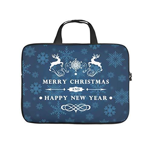 Funda protectora para portátil con texto 'Frohe Weihnachten' y 'Ein guter Neue Jahr' (Feliz Navidad y un buen año nuevo)