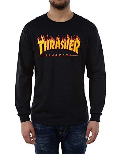 Thrasher Magazine Flame Logo T-Shirt - Medium- Black