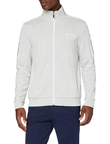 BOSS Herren Skaz Sweatshirt, Light/Pastel Grey, M