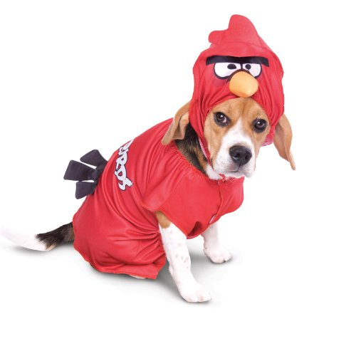 Magic Paper Rovio Angry Birds Red Bird Pet Costume Moyen