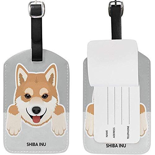 Netter Gepäckanhänger Leder Reisetaschenanhänger Koffer Gepäck Hundeaufkleber 1St