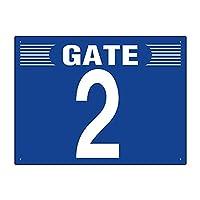 【305-301】ゲート表示板 GATE 2 ヨコ