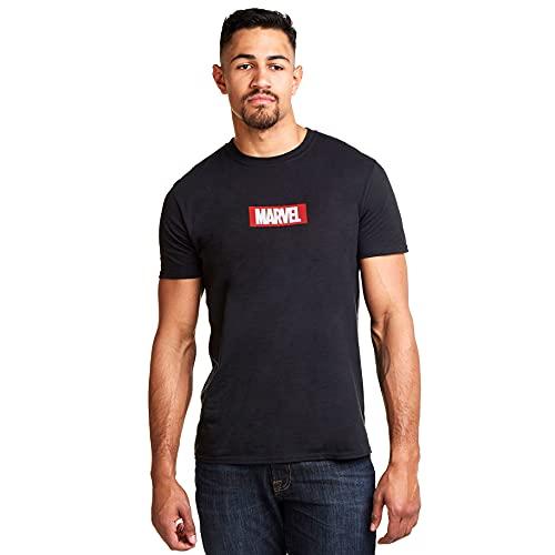 Marvel Box Logo T-Shirt, Noir (Noir), S Homme