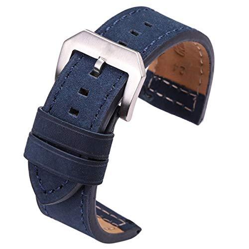 24 mm de Cuero de Vaca Correa Negro Marrón Gris Azul Zapatos...