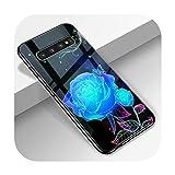 Phoncase W6319-Note 10 Coque en verre trempé pour Samsung S10 S9 S8 S7 S10E S20 Ultra A51 A71 A50...