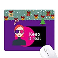 腰ホップ音楽は、それを保ちます ゲーム用スライドゴムのマウスパッドクリスマス