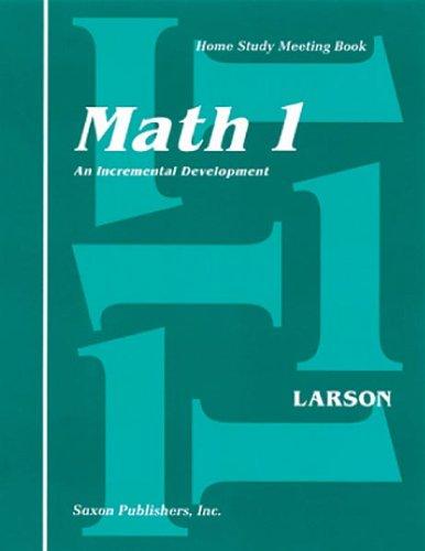 Saxon Math 1 Homeschool Complete Kit 1st Edition