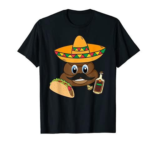 POOP Emoticon Cinco De Mayo | Sombrero Mexicano Camiseta