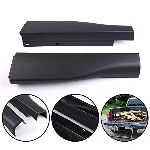 New Compatible For Ford F250 F350 F450 Super Duty with Flex Step 2008-2016 Black Flexible Step Integrated Tailgate Protector Molding Trim End Cover Caps Right Left Side 8C3Z9941018AA & 8C3Z9941019AA