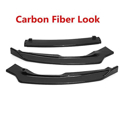 Look de fibra de carbono / negro 3xcar delantero Splitter de parachoques de parachoques de labios difusor de difusor labios para Ford para Fusión para Mondeo 2017-2018 ( Color : Carbon Fiber Look )