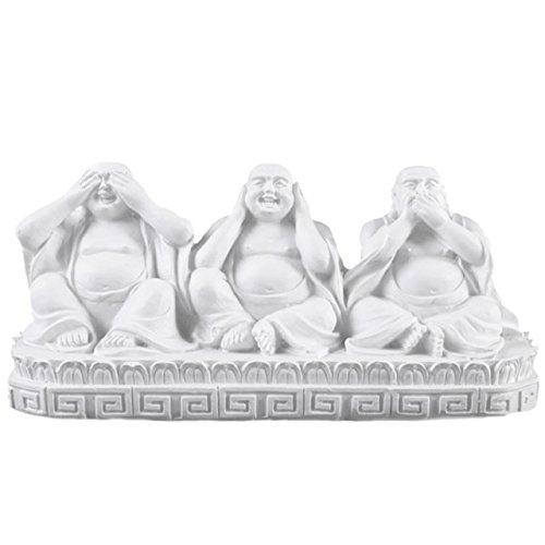 Jones Home and Gift Sehen, sprechen, Nicht hören Buddha Ornament