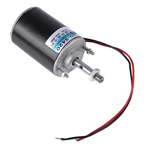 Nimoa 12/24V 30W Motor de Cc de Imán Permanente de Alta Velocidad CW/CCW para Generador de Bricolaje, XD-3420(24V)