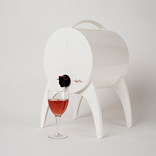 WINIBAR Winybar - Barril de Vino con Grifo (3 L), Color Blanco