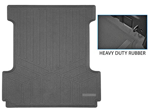 SMARTLINER K0167 Truck Rugged Rubber Bed Liner Mat for 2015-2020 Ford F150 SuperCrew Cab F-150