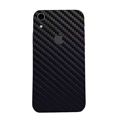 7 Layer Skinz Custom Skin Wrap Compatible with iPhone XR (Black Carbon Fiber)
