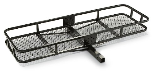 Guide Gear Hitch Cargo Carrier in Black Steel, Hitch Rack Basket for Vehicle, Car, Trailer (500 lbs. Capacity)