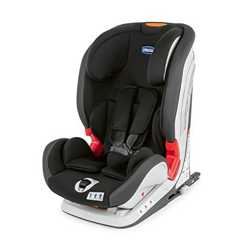 Chicco YOUniverse Siège Auto Isofix pour Bébé Inclinable 9-36 kg, Groupe 1 / 2 / 3 pour Enfants de 1 à 12 ans, Facile à Installer, avec Protections Latérales et Appui-Tête Réglable - Noir