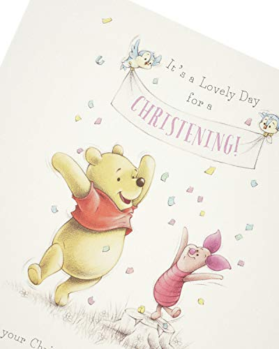 Product Image 5: Congratulations Christening Card – Christening Day Card, Winnie the Pooh and Piglet – Ideal Gift Card for Christening – Disney