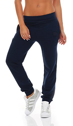 Gennadi Hoppe Damen Jogginghose Trainingshose Sweat Pants Sporthose Fitness Hose,blau,Medium