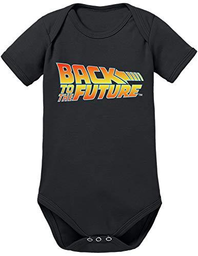 TShirt-People Zurück in die Zukunft Logo Baby Body 68 Schwarz