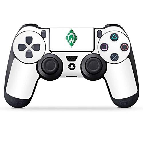 DeinDesign Aufkleber Skin Folie für Sony Playstation 4 Controller PS4 Controller Schutzfolie Werder Bremen Fanartikel Football