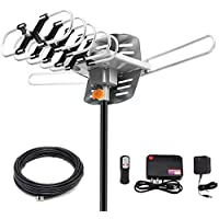 Before HDTV 150 Miles Range Digital Antenna WIth 360 Degree Rotation