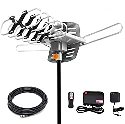 top rated Digital HDTV antenna with 150 mile range and 360 degree rotation – UHF / VHF / 1080p / 4K… 2021