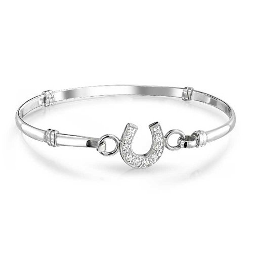 Bonne Chance Fer À Cheval Équestre Bracelet Jonc Pour Cadeau