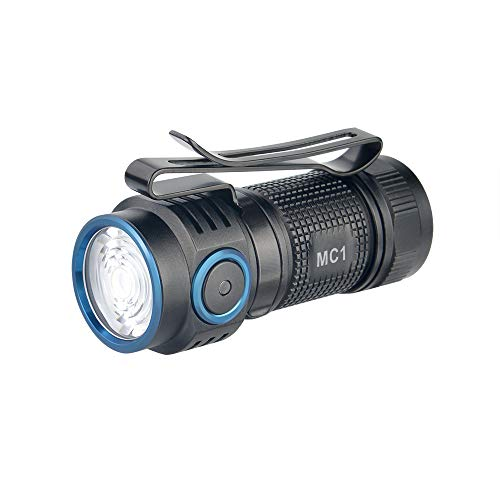 TrustFire MC1 - Linterna LED recargable (1000 lúmenes, CW, EDC, con batería...