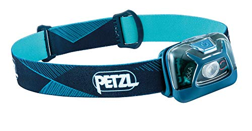 PETZL, Tikka Outdoor Headlamp with 300 Lumens for Camping and Hiking, Blue