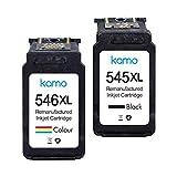Kamo 545XL 546XL - Cartuchos de tinta compatibles para Canon Pixma MG2550S MG2550 MG3050 TR4550 TR4550 TS205 TS3150 TS3151 TS3351 TS3350 MX4 95.