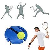Set de entrenamiento de tenis con cuerda de rebote automático, cinta de goma anti-balanceo