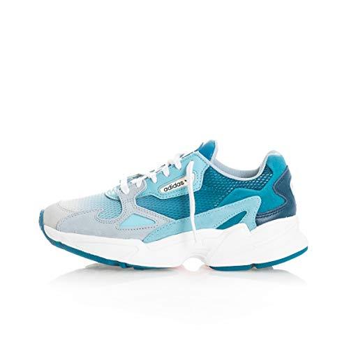 adidas Falcon W, Scarpe da Ginnastica Donna, Blue Tint s18/light Aqua/Ash Grey s18, 36 EU