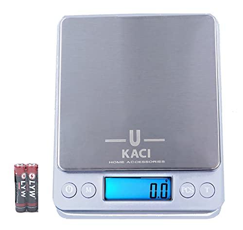 Ukaci, Balance de précision, 3000g/0,1g Mini Balance alimentaire, Balance de cuisine digitale, petit Electroménager de cuisine, Balance de poche, Petite Balance de Bijoux