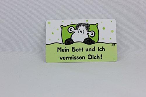 Sheepworld - 57062 - Pocketcard, Mein Bett und ich vermissen Dich!, PVC